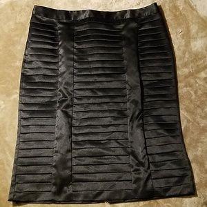 Worthington Silky Black Pencil Skirt Sz 14